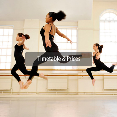 Newcastle Dance School Timetables and Prices Button