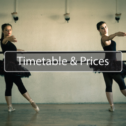 Dance Timetable and Prices North Shields Button